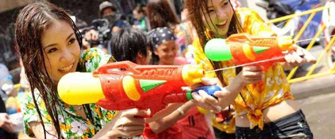 Songkran festival Phuket Thailand